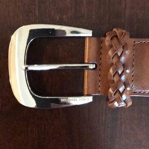 Michael Kors woven belt, Sz L, 43.5 inches